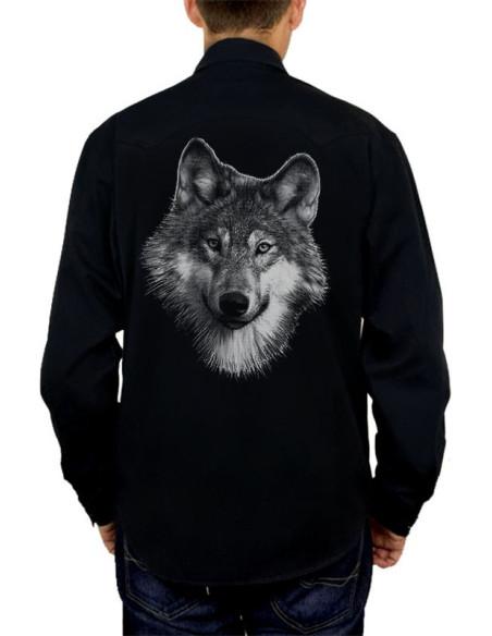 Chemise noire - Homme - Loup