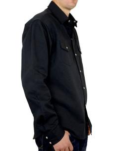Chemise noire - Homme - Loup - Coté