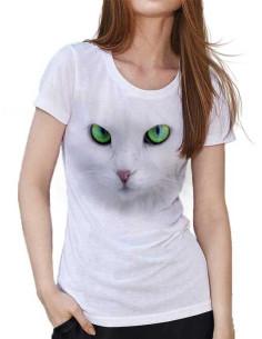 T-shirt avec un chat blanc
