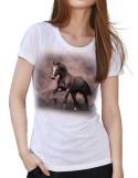 T-shirt avec un cheval bai