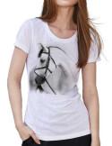 T-shirt avec un cheval gris