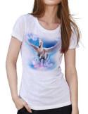T-shirt blanc - Femme - Pégase