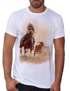 T-shirt western - Roping