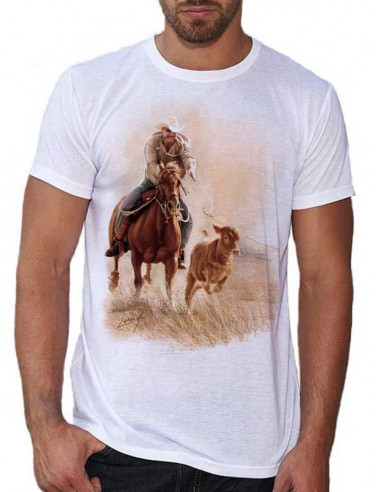 T-shirt blanc homme: Roping