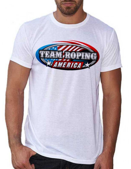 T-shirt blanc - Homme - Team Roping