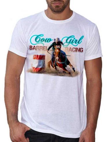 T-shirt homme Barrel racing. Monte western