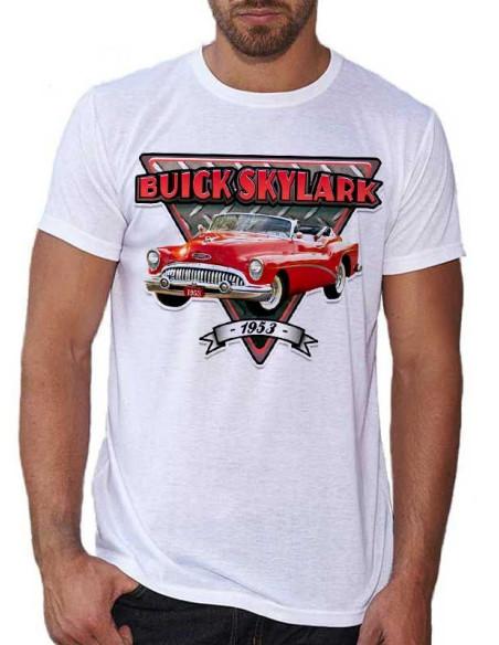 T-shirt blanc, homme - Voiture américaine ancienne
