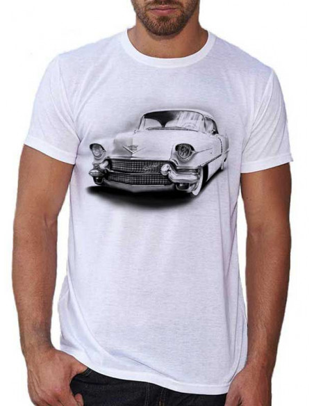 T-shirt blanc homme - Voiture Cadillac